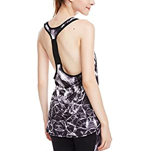 icyzone Activewear Workout Yoga Fitness Sports Racerback Tank Top T-Back Women