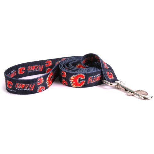 Yellow Dog Design Calgary Flames Lead, 3/8-Inch by 60-Inch