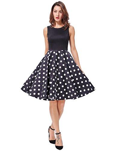 GRACE KARIN Damen Sommerkleid Rockabilly Kleid Festliches Kleid ...