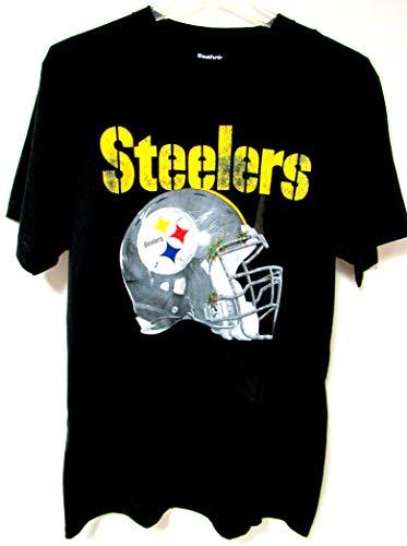 (Reebok Pittsburgh Steelers Men's Size Large T-Shirt Black A1 976)