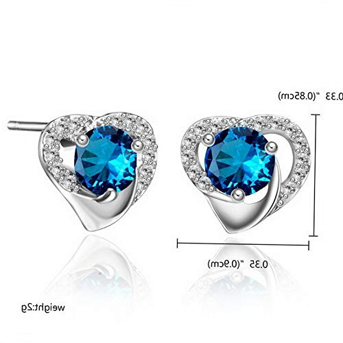 Tomikko Fashion Geometric Crystal Zircon Ear Stud Earrings Women Crystal Jewelry Gift   Model ERRNGS - 12111   ()