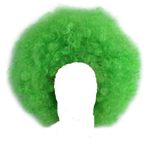 Unisex Clown Wig Circus Funny Fancy Party Dress Accessory Afro Stag Do Fun Joker (Green) -