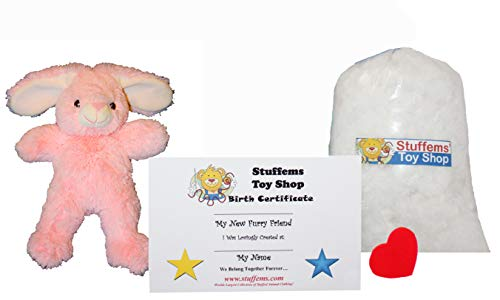 Make Your Own Stuffed Animal Mini 8 Inch Pink Soft Bunny Kit - No Sewing ()
