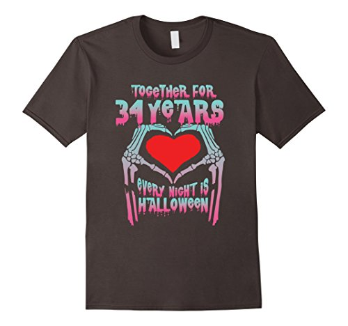 Mens Halloween Costume For Couple. 34th Wedding Anniversary Gifts 2XL Asphalt