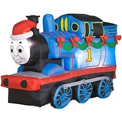 Thomas the tank engine 6 39 long airblown christmas holiday for Motor for inflatable decoration