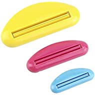 Early Buy 3 Pack - Toothpaste Tube Squeezer Dispenser, A great Life Helper Including(blue red and yellow) 3 Colors.