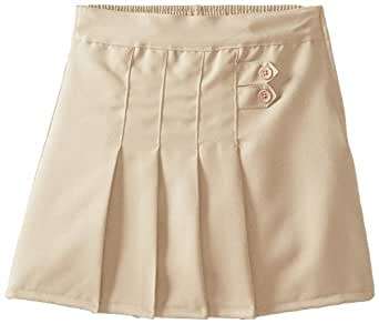 (4717) Genuine School Uniforms Girls 2 Tab Pleated Scooter Skort (Sizes 4-16) in Khaki Size: 10