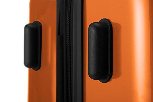HAUPTSTADTKOFFER® 74 Liter Hartschalen Koffer · (63 x 42 x 28 cm) · Hochglanz · TSA Schloss · ORANGE