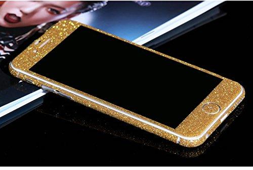FINOO Adesivo glitterato per iPhone - Oro, Iphone 7