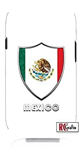 Cool Painting Premium Mexico Mexican National Flag Badge Direct UV Printed (Not a sticker) Unique Quality Soft Rubber Case for Samsung Galaxy S4 I9500 - White Case