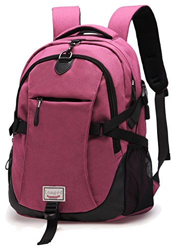 Anti-theft Laptop Backpack, Loaged Business Bags with USB Charging Port  Water Resistant School 2875097f76
