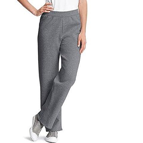 Hanes Womens ComfortBlend Fleece Sweatpants, Slate Heather, XL