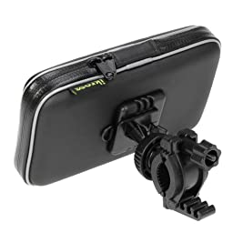 Bike Mount Holder - iKross Smartphone Bicycle Water Proof Pouch Holster Case - Black For Smartphone iPhone Samsung LG Huawei Xiaomi