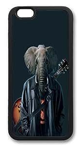 iPhone 6 Case, Soft Flexible TPU Bumper Protective Case Black Skin Scratch-Proof Case for iPhone 6 (4.7 inch) - Rocker Cooper Pattern