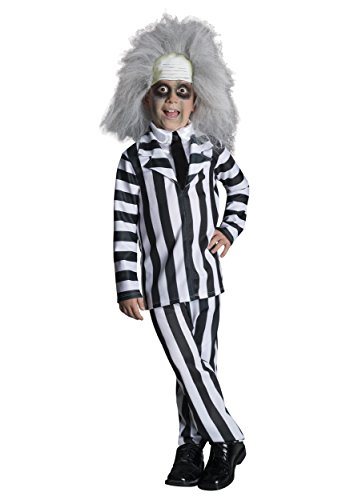 [Deluxe Child Beetlejuice Costume Toddler] (Beetlejuice Costume Wig)