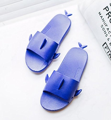 Verano Zapatillas Blue 37 darkblue Antideslizante Baño Zapatilla Mujeres Casual 38 Chanclas Zapatos Shangxian Moda Creativo Pareja hombres Twadg1d