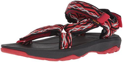 (Teva Boys' Y Hurricane XLT 2 Sport Sandal, Delmar Black/red, 6 M US Big Kid)