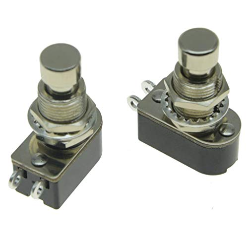 KAISH Pack of 2 SPST 2-Pin Momentary Soft Touch Push Button Electric Guitar Pedal Foot Switch OFF(ON)