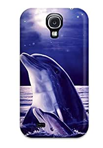 New Tpu Hard Case Premium Galaxy S4 Skin Case Cover(dolphins)
