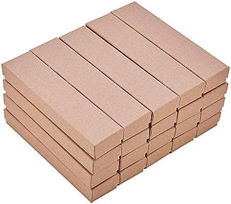 BENECREAT 20 Pack Cajas de Cartón Kraft para Collar 17x4x2.5cm Caja de Regalo Rectácula de Pulsera Cumpleaños Boda Festival: Amazon.es: Hogar