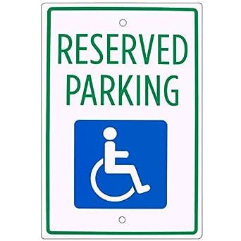 Amazon.com: Señal de aparcamiento Handicap - Señal de ...
