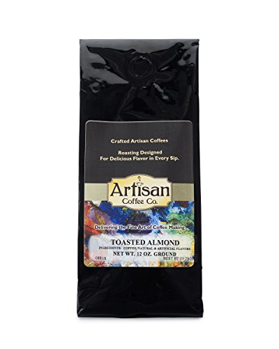 Toasted Almond Artisan Fresh Ground Coffee Available in (10) Flavors - Almond Toasted Coffee