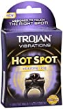 Trojan Vibrations Hot Spot Vibrating Ring - 1 each, Pack of 3