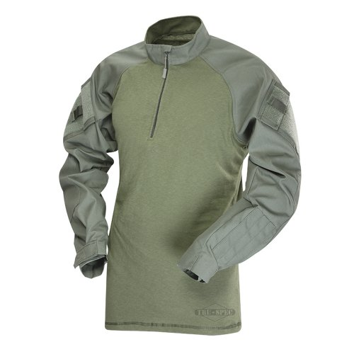 Multicam Combat Uniform (Tru-Spec 65/35 Polyester/Cotton Rip-Stop 1/4 Zip Tactical Response Combat Shirt Olive Drab/Olive Drab Medium)