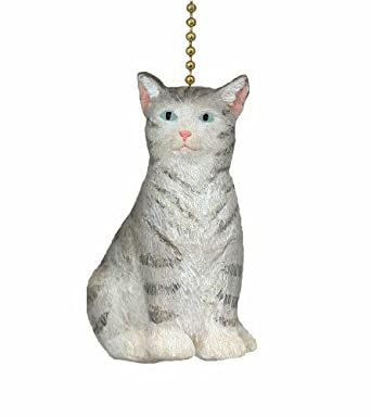 Gray kitty cat ceiling fan pull ceiling fan pull chain ornaments gray kitty cat ceiling fan pull mozeypictures Image collections