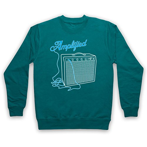 My Icon Men's Amplified Amp Adults Sweatshirt, Jade Green, (Amp Adult Green)