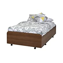 South Shore Furniture Mobby Twin Trundle Bed on Casters, 39-Inch, Morgan Cherry