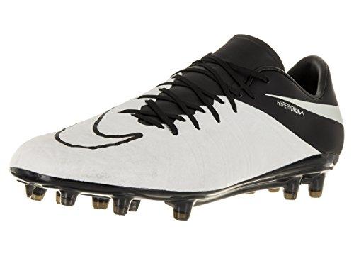 Nike Men's Hypervenom Phinish Lthr Fg Light Bone/Light Bone/Black/Black Soccer Cleat 9.5 Men (Black Lthr Lace)
