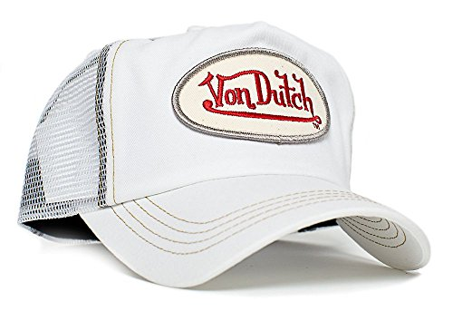 Von Dutch White Chris Unisex-Adult Trucker Hat -One-Size White/White
