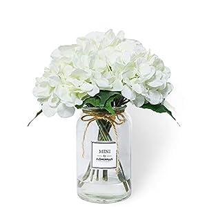 2 Bundles Artificial Hydrangea Fake Silk Flower Bouquet for Wedding Centerpieces Home Garden Decor 4