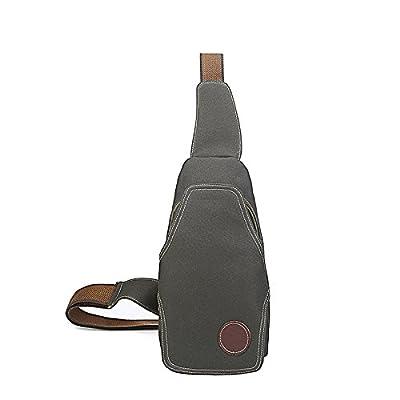 meoaeo épaule simple velours hommes sac de toile de sac de seins hommes en sac