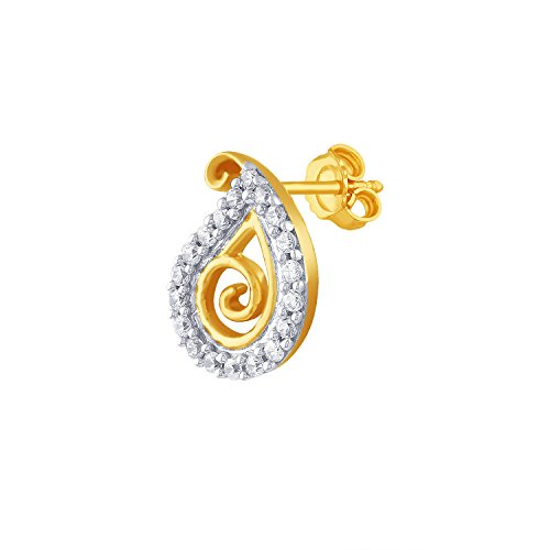 Giantti 14 carats Diamant pour femme Boucles d'oreille à tige (0.3666 CT, VS/Si-clarity, Gh-colour)