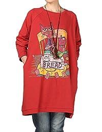 Mordenmiss Women's Fall Printing Sweatshirt Dress