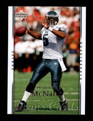 5 Donovan McNabb Philadelphia Eagles (Football Card) Dean's Cards 8 - NM/MT Eagles (2007 Upper Deck Football Cards)