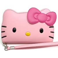iPhone 6 + Plus(5.5 inches) Big, Hello Kitty 3D Wallet Case Rose for Apple iPhone 6 Plus (5.5)-24K Gold Electromagnetic iPhone 6 Plus (5.5)-Baby Pink