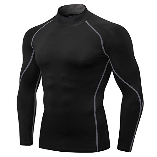 LEICHR Men Compression Shirt Long Sleeve, Cool