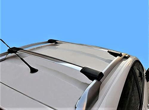 HippoBar Aerodin/ámico /& Bloqueable Barras Transversales para Volvo XC90 MK1 2003 2014 Anodizado Plata