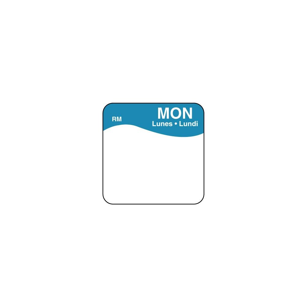 DayMark 1101111 ReMark Bilingual 1'' Monday Day Square - 1000 / RL