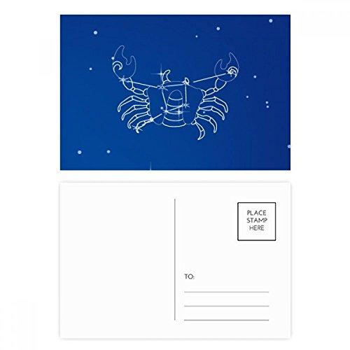 Star Universe Cancer Constellation Postcard Set Birthday Thanks Card Mailing Side 20pcs by DIYthinker