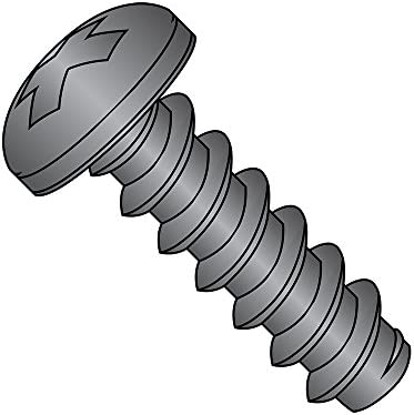 Slotted Drive Pack of 100 Steel Sheet Metal Screw Type B Pan Head #6-20 Thread Size Zinc Plated 3//4 Length