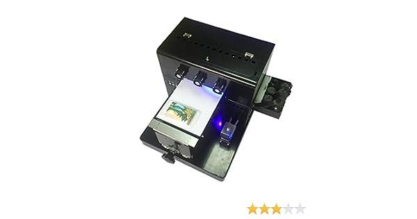 Syoon 2018 A4 tamaño pequeño Impresora UV LED con Efecto de Relieve Golf UV Impresora Plana para teléfono Caso, Vidrio, Metal, Cuero, TPU.etc: Amazon.es: Electrónica