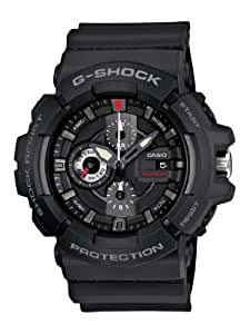 Casio Men's GAC100-1A G-Shock Black Resin Analog Chronograph Watch