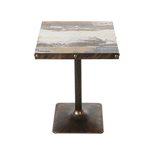 コーヒーテーブル ヴィンテージコーヒーテーブル、クリエイティブレストランカフェアイアンアートスクエアテーブルティーショップコールドソーダショップ装飾テーブルダイニングテーブル交渉テーブルカジュアルリーディングテーブル 小さなコーヒーテーブル (色 : #5) B07F483QWL#5