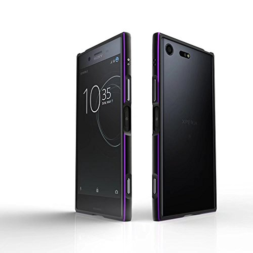 Aluminum Metal Bumper Case Shockproof Cover for Sony Xperia XZ Black - 9