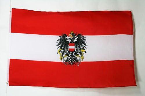 Oostenrijk met adelaarsvlag 150x90 cmOostenrijkse wapenvlaggen 90 x 150 cmBanner 3x5 ft Licht polyesterAZ FLAG