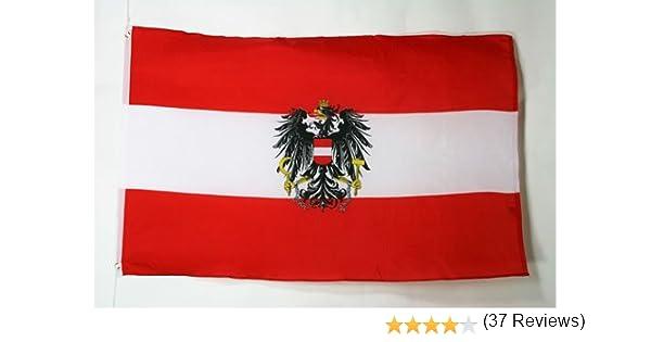 AZ FLAG Bandera de Austria con Aguila 150x90cm - Bandera AUSTRÍACA con Armas 90 x 150 cm: Amazon.es: Hogar